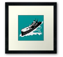 World War Two Battleship Warship Cruiser Retro Framed Print
