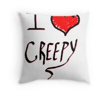 I love Halloween Creepy  Throw Pillow