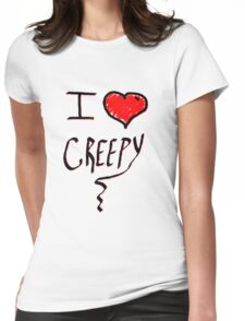 I love Halloween Creepy  Womens Fitted T-Shirt