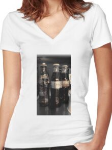Three Bottles Full Women's Fitted V-Neck T-Shirt