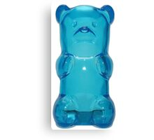 Blue gummy bear Canvas Print