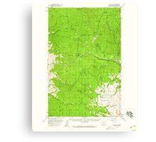 USGS Topo Map Washington State WA Loup Loup 242079 1956 62500 Canvas Print