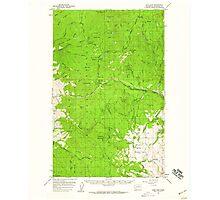 USGS Topo Map Washington State WA Loup Loup 242079 1956 62500 Photographic Print