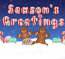 Fun Season's Greetings Candy And Ginger Bread People by Moonlake