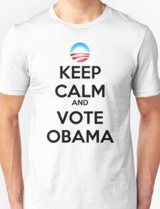Keep Calm and Vote Obama (logo) Unisex T-Shirt