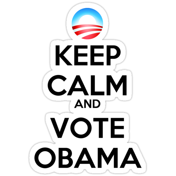 Keep Calm and Vote Obama (logo) by rolypolynicoley