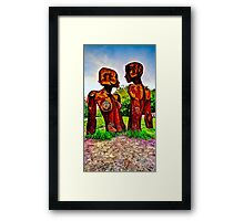 Metal In Love Framed Print