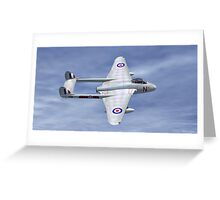 De Havilland  Vampire Greeting Card