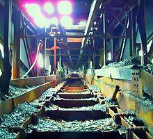 Morning Light: Huber Breaker Coal Chute by Cheri Sundra