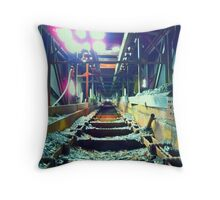 Morning Light: Huber Breaker Coal Chute Throw Pillow