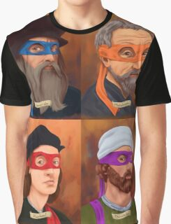 The Renaissance Ninja Artists Graphic T-Shirt