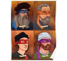 The Renaissance Ninja Artists Poster