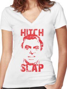 Hitch Slap Women's Fitted V-Neck T-Shirt