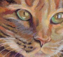 Calico Cat Angel Sticker