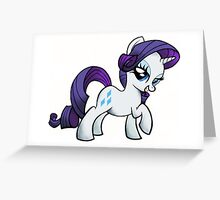 Rarity is FABULOUS (My Little Pony: Friendship is Magic) Greeting Card