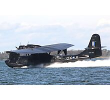Catalina touch and go on lake illawarra Photographic Print