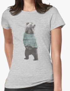 Sweater Bear Womens Fitted T-Shirt