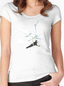 Ninja Glider Women's Fitted Scoop T-Shirt