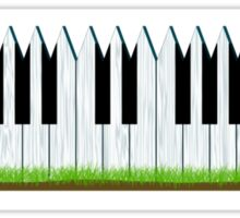 Music is my fence Sticker
