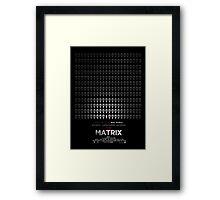 Minimalist Poster : Matrix Framed Print
