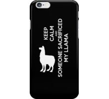 Someone's Sacrifed My Llama iPhone Case/Skin
