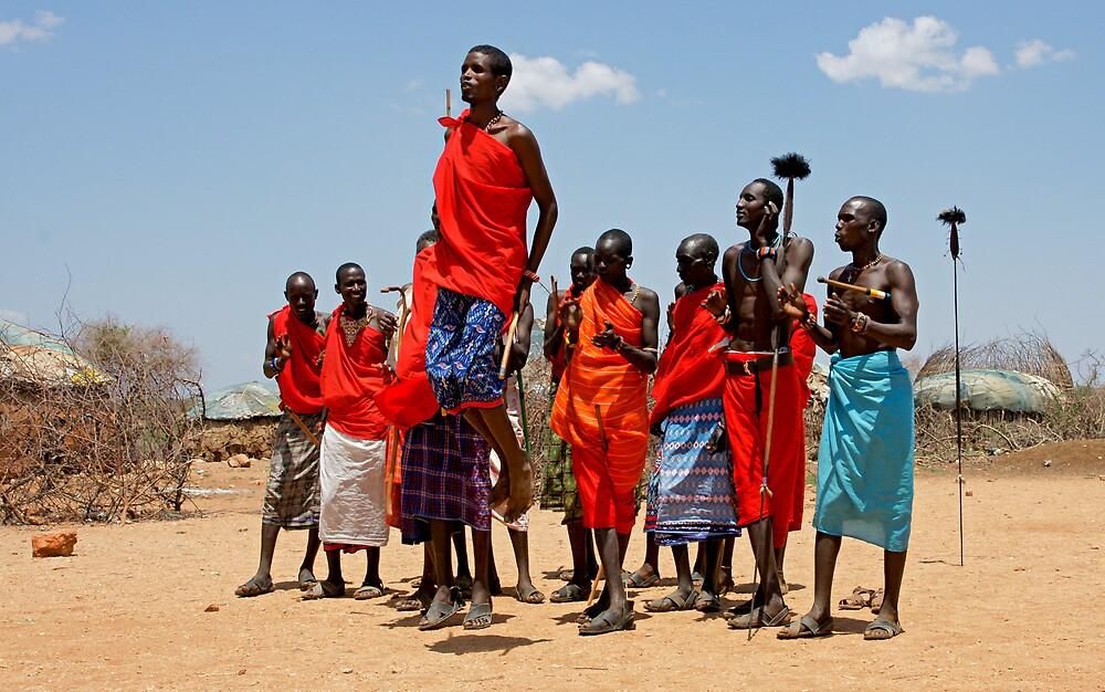 """maasai warrior jumping dance"" by roger smith"