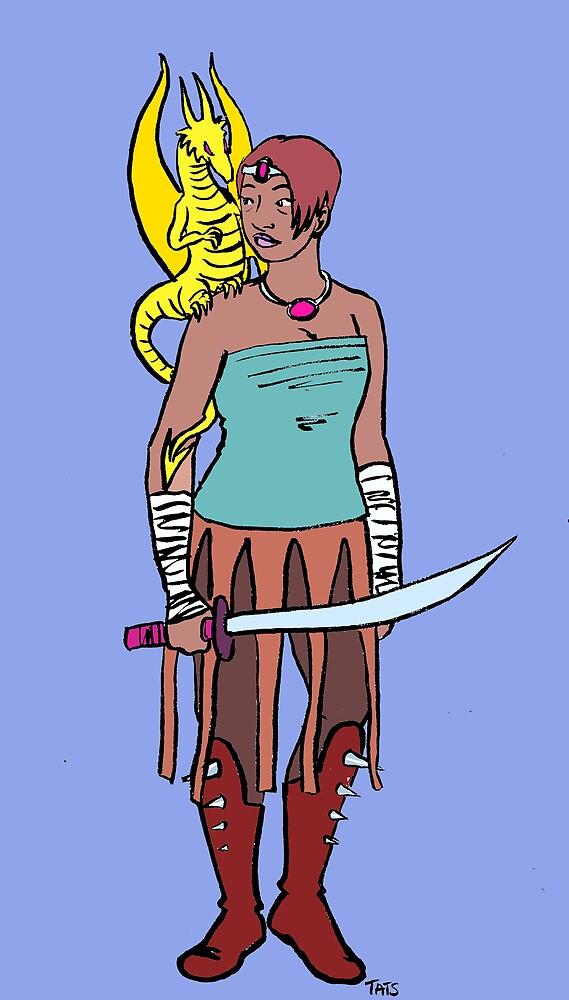 Dragon Warrior by Tatiana  Gill