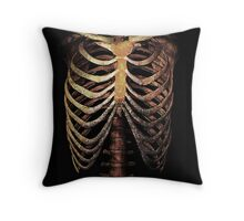 RIB CAGE TEE Throw Pillow