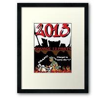 NEW YEARS EVE 2013 Framed Print