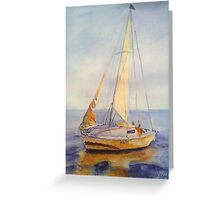 Sunset sail Greeting Card