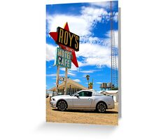 Ford Mustang GT in the Mojave Desert Greeting Card