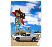 Ford Mustang GT in the Mojave Desert Poster