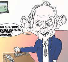 Wolfgang SCHAUBLE en caricature by Binary-Options