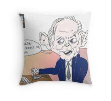 German Finance Minister Wolfgang Schauble caricature Throw Pillow