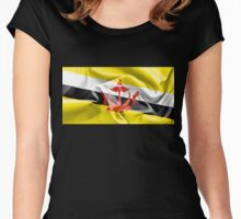 Brunei Flag Women's Fitted Scoop T-Shirt