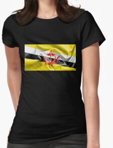 Brunei Flag Womens Fitted T-Shirt
