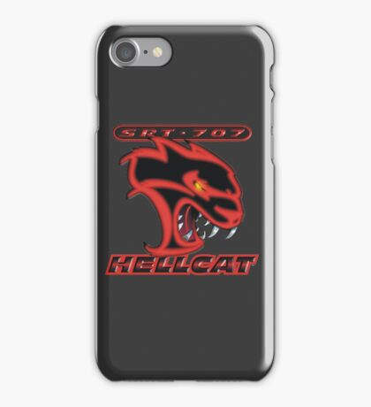 Hellcat - Red & Black iPhone Case/Skin