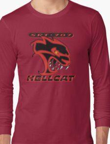 Hellcat - Red & Black Long Sleeve T-Shirt