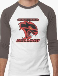 Hellcat - Red & Black Men's Baseball ¾ T-Shirt