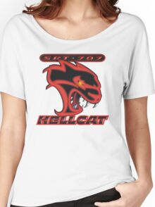 Hellcat - Red & Black Women's Relaxed Fit T-Shirt