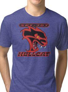 Hellcat - Red & Black Tri-blend T-Shirt