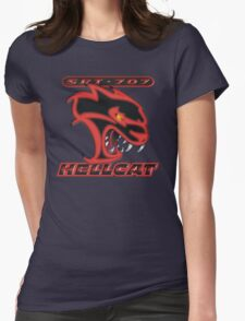 Hellcat - Red & Black Womens Fitted T-Shirt