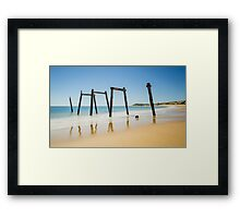 Coloured Sticks Framed Print