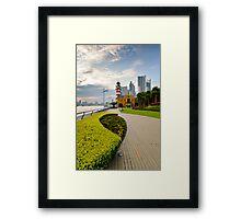 Shanghai Bund Lighthouse Framed Print
