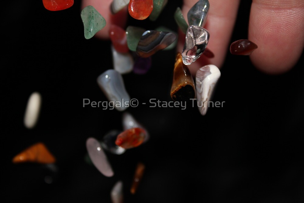falling gems by Perggals© - Stacey Turner