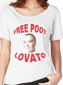 FREE POOT LOVATO Women's Relaxed Fit T-Shirt