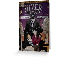 Adventures of the Silver Shroud Greeting Card