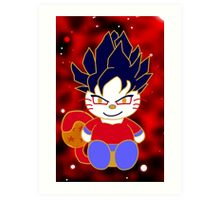 Super Saiyan 4 Kitty Art Print