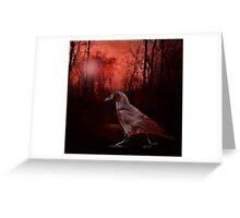 Hommage To Edgar Allan Poe Greeting Card