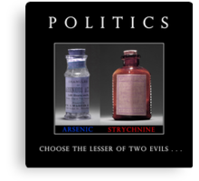 Poison Politics Canvas Print